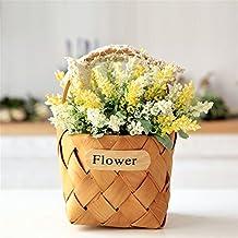 NOHOPE Regalos de Boda de una idílica casa ornamentos interiores de estilo coreano cestas de flores Flores Flor Kit emulación Regalo día de la madre