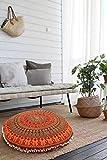 GANESHAM HANDICRAFT ganesham indischen Home Bohemian Decor Pouf osmanischen Pet bett handgefertigt Meditation Kissen Bezug, 32x 32