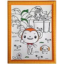 DIY Kids Painting Coloring Palette Tavola da disegno concavo-convessa con penne [Monkey]