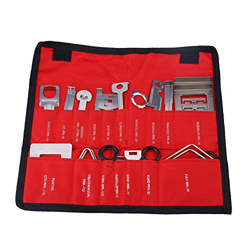 Keenso 38 stücke kohlenstoffstahl auto radio stereo entfernung Installateur Werkzeug Set (Rot)