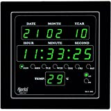 Ajanta Rectangular Glass Wall Clock (24 cm x 22 cm x 3.9 cm)