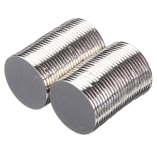 Livecitys Neodym-Magnete, 15 x 1 mm, N50, rund, 50 Stück, Multi