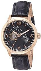 Titan Analog Black Dial Mens Watch - 90036WL02J