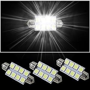 Muchkey® de voiture ampoules LED Intérieur LED Lampes de voiture Lampes LED double Fastoon 41mm/5050SMD Blanc 3pcs pas cher – Livraison Express à Domicile