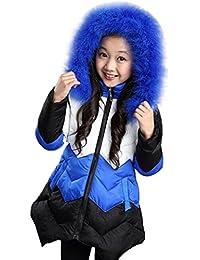 Abrigo para bebé con capucha de pelo , Yannerr Chica niñas lana encapuchados chaqueta capa ropa outwear gruesa caliente