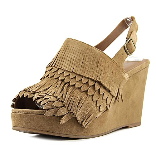 Lucky Brand Jeena Damen Faux Wildleder Keilabsätze Sandale Honey
