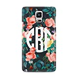 Best Matching Cases For Galaxy Note 4s - Personalised Wild Flowers Custom Floral Roses Monogram Name Review