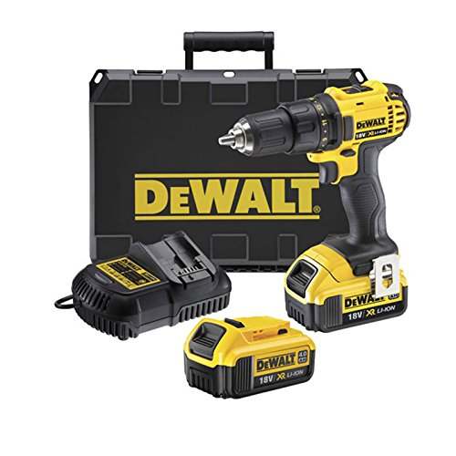 DeWalt DCD780M2 18v Cordless XR Compact 2 Speed Drill Driver with 2 Li-ion Batteries 4ah