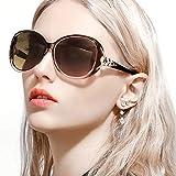 Gafas De Sol Gran Tamaño Mujeres– Aptos para Conducir – Montura Envolvente Cómoda con Protección UV400 (Marrón,Marrón)