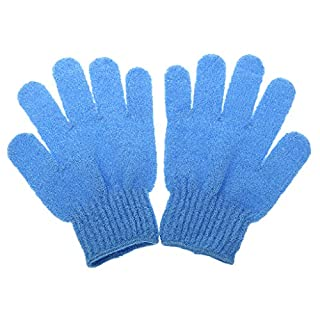 1Paar Handschuh de Bain Peeling Pflege der Haut Massage Reinigung Dusche