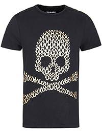 True Religion Black Skull Print Short Sleeve T-Shirt