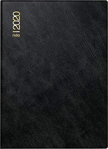 rido/idé 701824290 Taschenkalender Technik III (1 Seite = 2 Tage, 100 x 140 mm, Schaumfolien-Einband Catana, Kalendarium 2020) schwarz