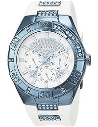 Guess Damen-Armbanduhr Ladies Sport Analog Quarz Silikon W0653L2
