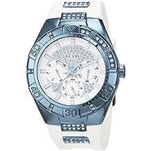 Guess W0653L2 - Reloj con correa de metal, para mujer, color blanco / azul