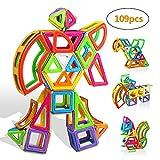 infinitoo Blocs Construction Magnétiques | 109 Pièces XXL Jeux de Construction Magnetique Colorée 3ère-Version | Idéal Cadeau pour Bébé à Partir de 3 Ans