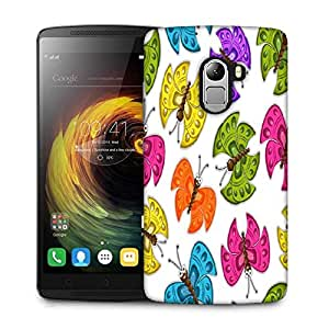 Snoogg Colorful Butterflies Designer Protective Phone Back Case Cover For Lenovo Vibe K4 Note