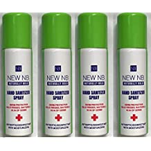 New NB Hand Sanitizer Spray - Naturally Bold 60ml (Pack of 4)