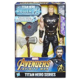 Avengers: Infinity War – Thor Titan Hero Power FX (Personaggio 30 cm, Action Figure), E0616103