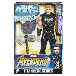 Hasbro Marvel Avengers INFINITY War Thor Titan Hero Power FX (personaje 30cm, Action Figure), 30cm, Versión italiana