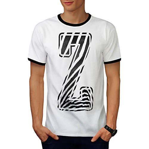 Kostüme Safari Prinzessin (Brief Z Zebra Mode Safari Herren M Ringer T-shirt |)