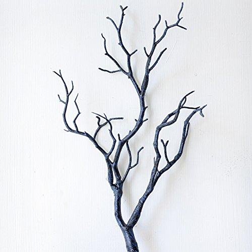 Woopower, albero artificiale, confezione da 2 rami da 35 cm, in plastica. piccolo albero con rami secchi, per decorazioni fai da te per casa o matrimonio, plastica, blue, 35cm