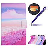 Samsung Galaxy Tab A2 S 8.0 Hülle,Okssud Galaxy Tab A2 S T380 Case Leder Flip PU Leder Hülle Smart Cover Leder Tasche SchutzHülle mit Automatischem Schlaf Funktion und Standfunktion Flip Cover im Bookstyle PU Leder & Silikon Inner Back Case SchutzHülle Stoßfest Tasche für Galaxy Tab A2 S 8.0 SM-T380 T385 + 1x Touchscreen Pen