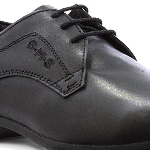 Buckle My Shoe , Jungen Schnürhalbschuhe Schwarz
