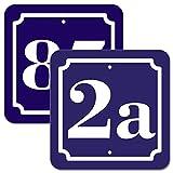 Hausnummer Schild 2mm Aluverbund