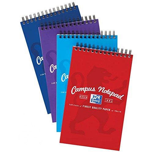 2x Drahtkammbindung Campus Reporter Notebook zeigen verschiedene Farben & Stift