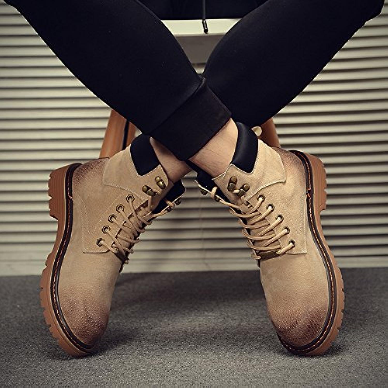 HL-PYL-Martin botas botas altas botas All-Match Mate ayuda masculina coreano,42,color arena