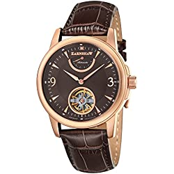 Thomas Earnshaw Men's Flinders Power Reserve Automatic Watch with Brown Dial Analogue Display and Brown Leather Strap ES-8014-06
