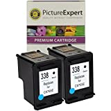 338 ( C8765EE ) Remanufactured Black Ink Cartridge x 2 ( Twin Pack / 2 Pack ) for HP Printers