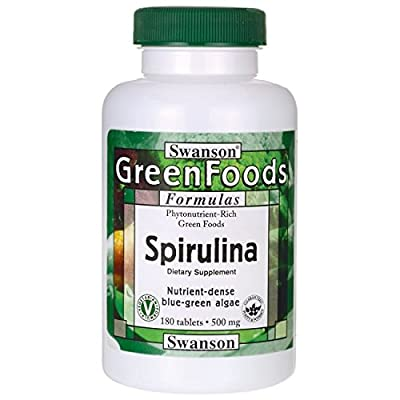 Swanson Greens Spirulina (500mg, 180 Tablets) from Swanson Health Products