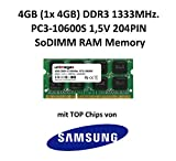unimega 4GB DDR3 1333MHz PC3-10600S SoDIMM 204PIN 1