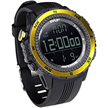 Pyle PSWWM82YL - Reloj deportivo digital multifuncional, color amarillo