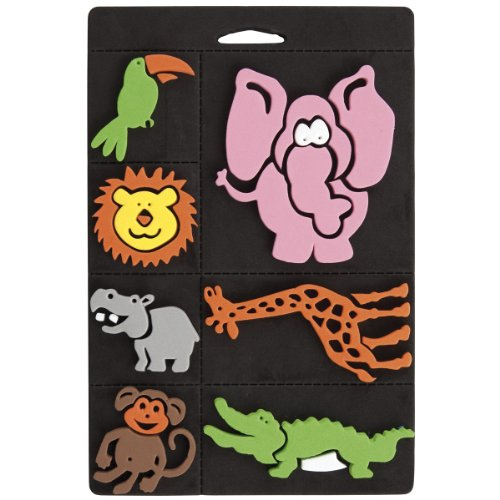 craft-planet-7-piece-foam-stamp-set-go-wild-multi-colour