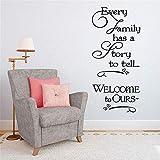 stickers muraux enfants spiderman Chaque famille a une histoire pour le salon lettrage autocollant Home Decor pour chambre de bébé