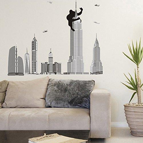 gorila-king-kong-adhesivo-decorativo-para-pared-diseo-de-la-torre-de-casa-de-vinilo-extrable-papel-p