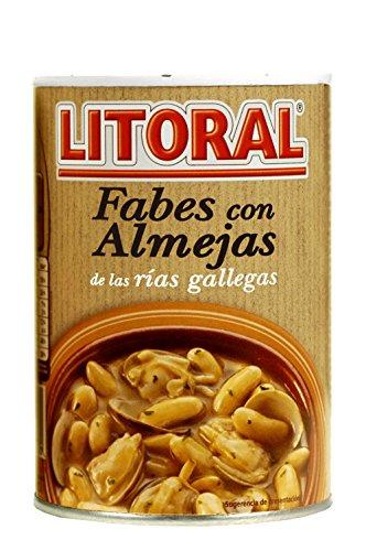 LITORAL Fabes con Almejas - Plato Preparado Sin Gluten - 440g