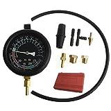 haia7k4k HAIA7K4K Pompa Carburante Vuoto Tester Pressione Gauge Leak carburatore Diagnostics W/Case 6,3cm