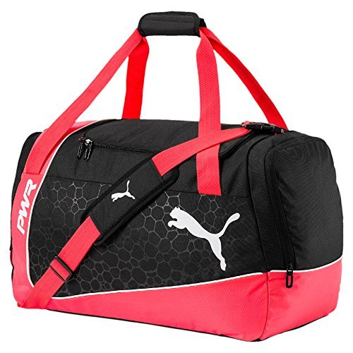 PUMA Evopower Medium Bag Sporttasche, Fiery Coral-Puma Black-Puma White, 56 x 28 x 5 cm