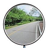 Topwill Trafic Convexe Miroir, Acrylique Miroir de Sécurité Surveillance Miroir Convexe pour la Surveillance de la Route (45cm)