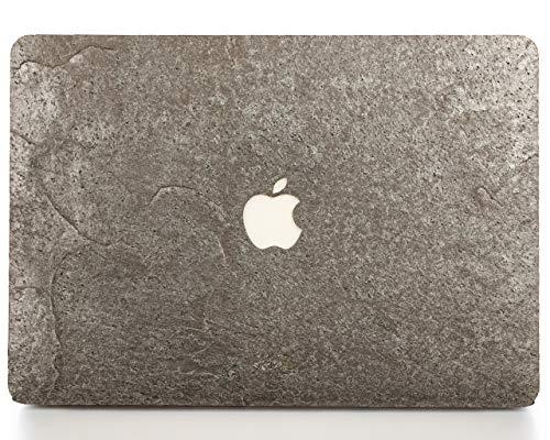 "Woodwe Real Stone MacBook Skin Sticker Sticker für Mac Pro 13\"" Retina Display - Modell: A1425 / A1502 Ende 2012 - Anfang 2015 - echt & natürlich Silber grau Stein - Top & Bottom Cover"