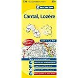 Carte DÉPARTEMENTS Cantal, Lozère, N°330