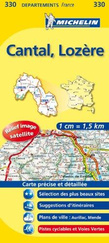 CANTAL / LOZERE 11330 CARTE ' LOCAL ' ( France ) MICHELIN KAART (KAARTEN/CARTES MICHELIN)