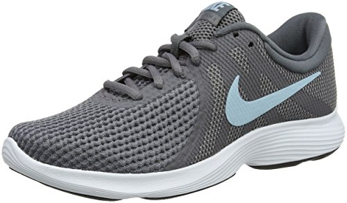 Nike Damen Revolution 4 Laufschuhe, Grau (Gunsmoke/Ocean Bliss/Dark Grey/White/Black), 37.5 EU
