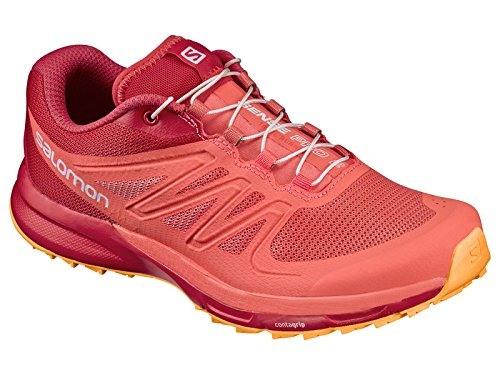 Salomon Sense Pro 2, Chaussures de Running Entrainement Femme Living Coral/Poppy Red/Bright Marigold