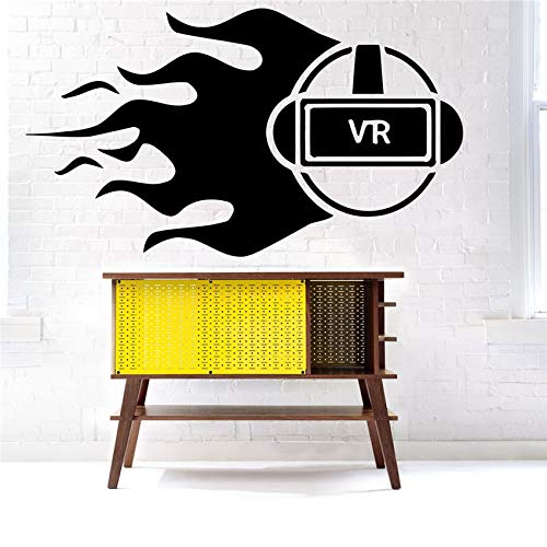 ljradj Brille Wandtattoo Vinyl Aufkleber Dekor Wandbild Spiel Virtual Reality Home Decor Modernes Design Vinyl Wohnzimmer Wandaufkleber 58 X 103 cm