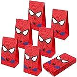 U&X Borse da Festa Spider-Man Borse da Regalo per Bambini Superhero Themed Party, Set di 24