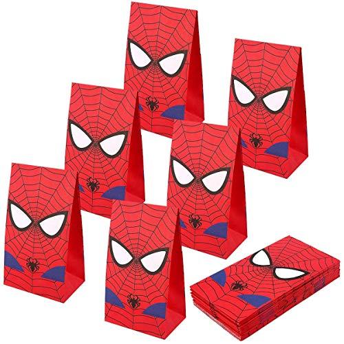 U&X Spider-Man Party Taschen Goodie Bags für Kinder Superhelden-Party, 24er-Set